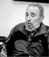 Fidel Castro, visibly aged due to pressure from the embargo.